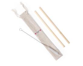 Set Pajitas Bamboo